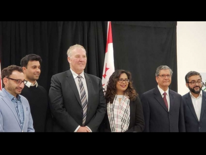 MP Bill Blair, Minister of Border Security and Organized Crime Reduction, and MP Iqra Khalid attended a press conference with the Muslim Neighbour Nexus on Feb. 23, 2019.