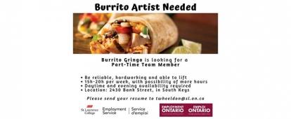 Burrito Gringo Part-Time Burrito Artist