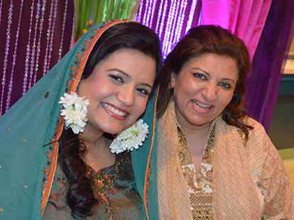 Nargis Yousuf of Al Nisa with one of her brides.
