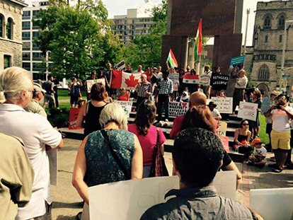 Ottawa Rally Raises Awareness about the Syrian Refugee Crisis