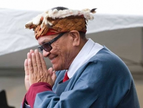 Chief Robert Joseph is a residential school survivor and honorary witness to Canada's Truth and Reconciliation Commission (TRC). He is the hereditary Chief of the Gwawaenuk First Nation and one of the few surviving speakers of the Kwakwaka'wakw language. He currently works with Reconciliation Canada in British Columbia.