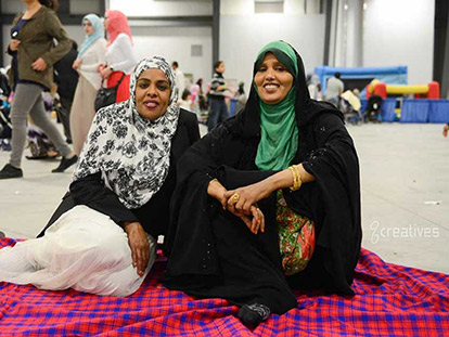Aisha and Aisha at the MAC Eid Festival