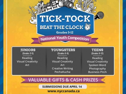 Join Misk Islamic Society of Canada's Tick-Tock Beat the Clock National Youth Competition (Registration Deadline April 11)
