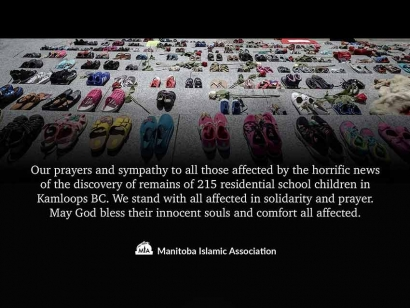 Manitoba Islamic Association Statement on the Discovery of the Remains of 215 Children in Kamloops, BC