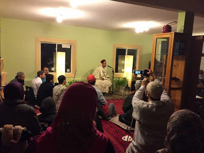 Gathering at Sanad Collective's Masjid Rhoda