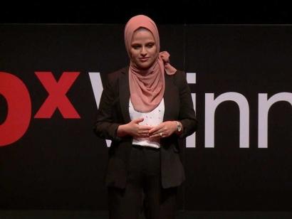 In 2019, Kobra Rahimi was a speaker at TEDxWinnipeg in Winnipeg, Manitoba.
