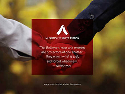 Muslim men working to end violence against women