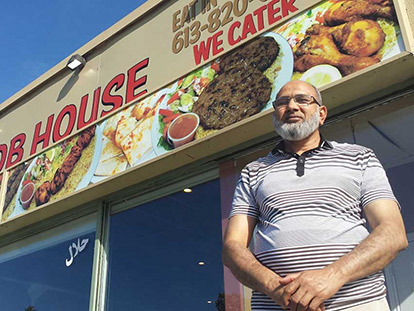 Salang Kabob House Restaurant, a staple of Ottawa's Bayshore community, has a new owner, Pakistani Canadian Ihsan Sandhu.