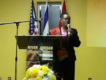 Ms. Lillian C. Sambu from the Kenyan High Commission at Ottawa Memorial