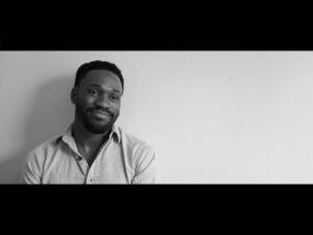 Spoken word poet Jamaal Jackson Rogers.