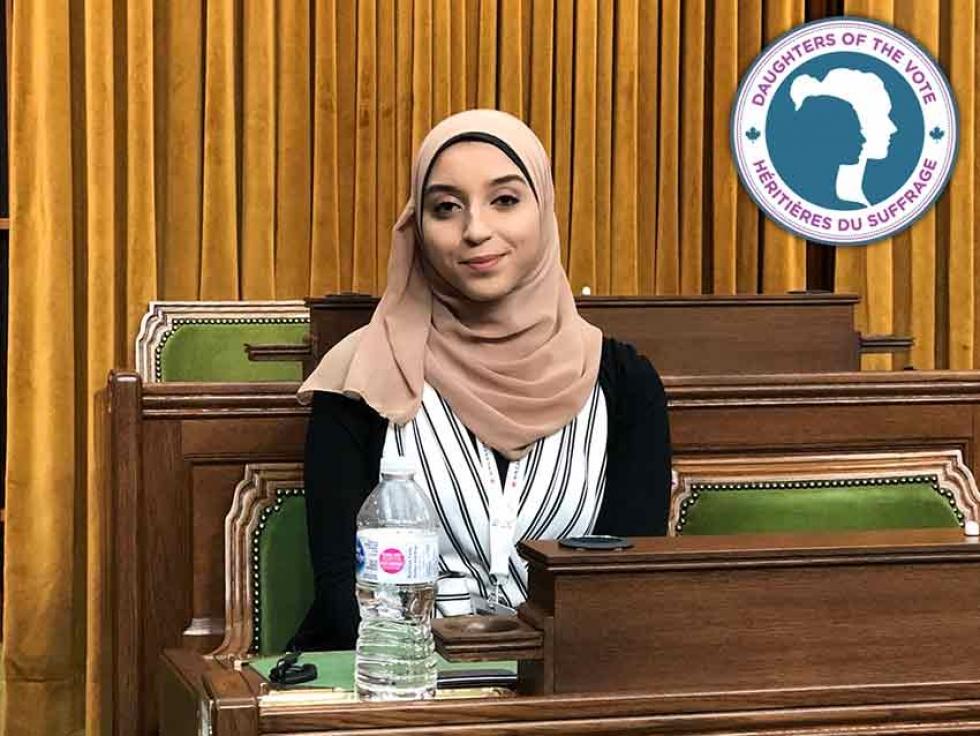 Muslimahs on Parliament Hill: Amira Shousha from Edmonton West, Alberta