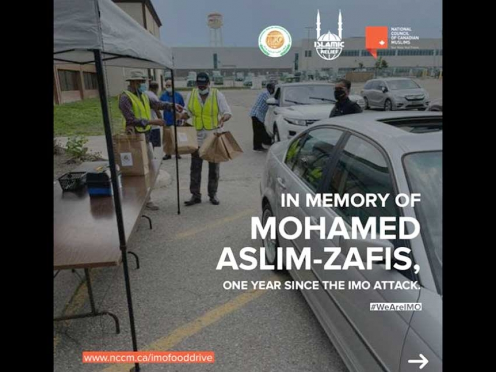 In Memory of Mohamed Aslim-Zafis One Year Since the IMO Attack: Food Drive, Donations, Letter-Writing Campaign