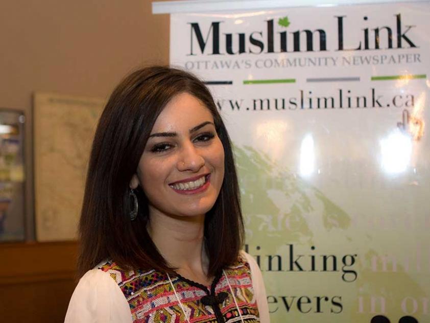 Assma Galuta aka Asoomii Jay at the Arabian Canadian Bazaar on January 18th.