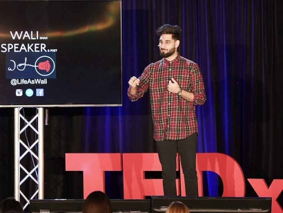 In 2019, Wali Shah is a speaker at TEDxMississauga in Mississauga, Ontario.