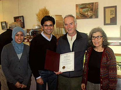 Adilah Makrup accompanied Yasir Naqvi for a day. Here they visit the owners of The Green Door Restaurant who are celebrating 25 years in business.