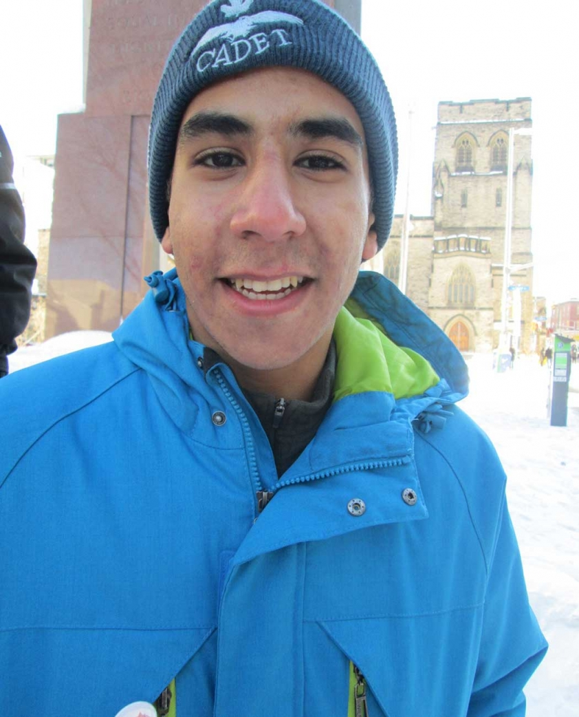 Mahamed Abdelaal attended the Canadian Muslims for Peace gathering in Ottawa on January 31st.
