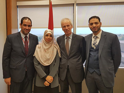 Honorable Minister Stéphane Dion welcomes Sarah Attia and Khaled Al-Qazzaz Home