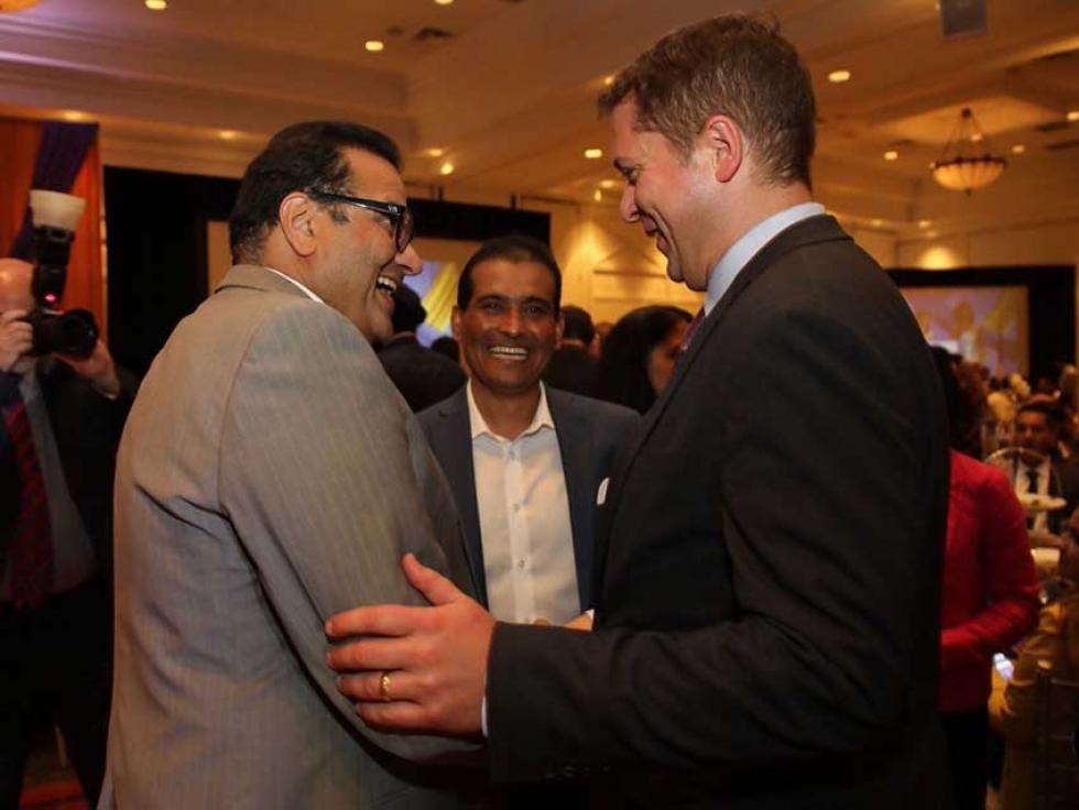 Conservative Party Leader Andrew Scheer attending Eid Dinner organized by Canadian Muslim Vote in Brampton in July.