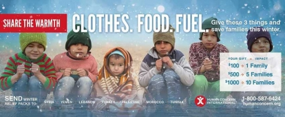 Support Human Concern International's Winter Survival Fund