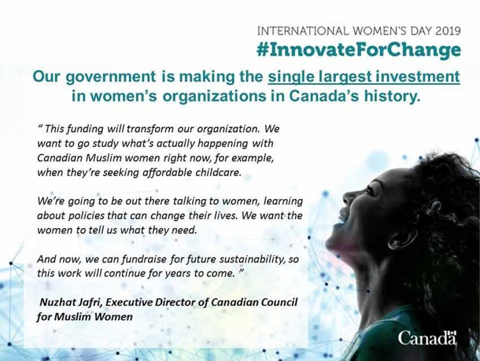 Canadian Council of Muslim Women Receives Funding from the Government of Canada