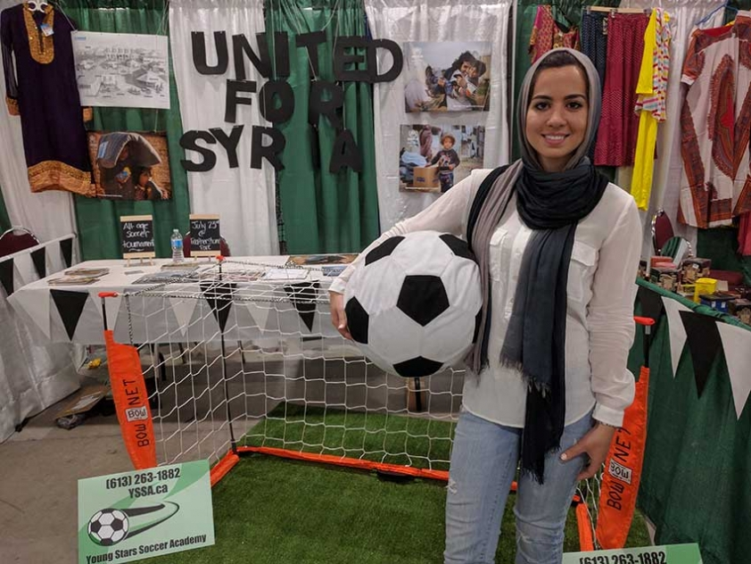 Rayanne Bendaoud is organizing the United for Syria Soccer Tournament on Saturday, July 23rd to raise money for refugees