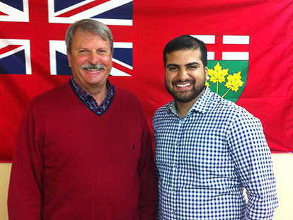 PC Candidate Jack MacLaren and Adnan Ali