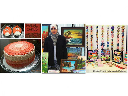 Muslim women artists showcase their talents at a local craft show