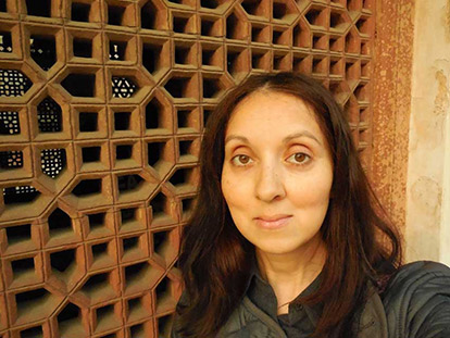Canadian poet Rahat Kurd, photographed here in Delhi, explores the legacy of the partition of India and Pakistan in Cosmophilia.
