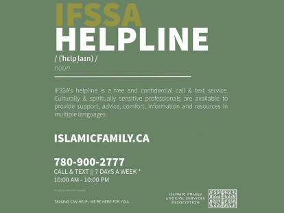 Edmonton's Islamic Family and Social Services Association (IFSSA) Launches Helpline