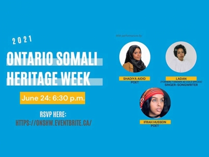 Watch the Ontario Somali Heritage Week Launch Event Online