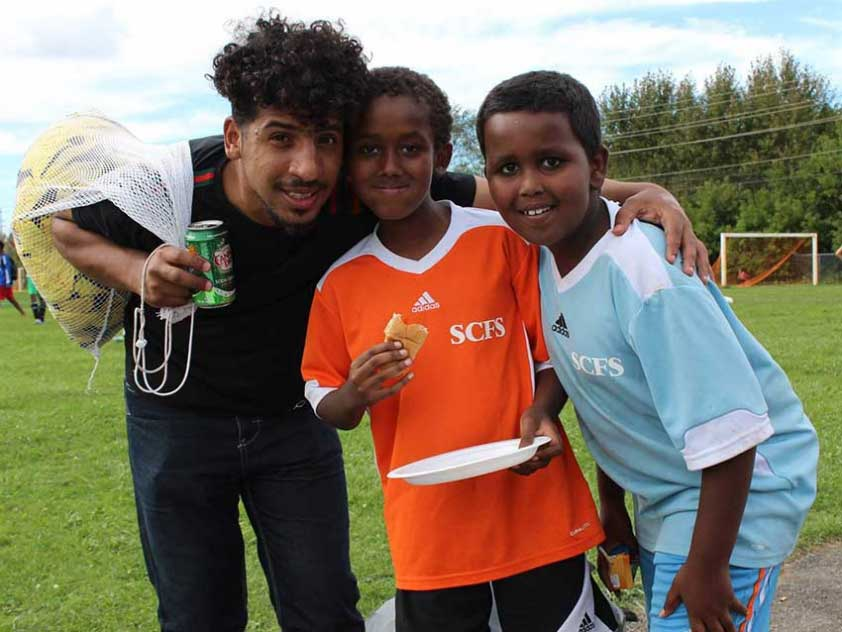 Members of the Somali Centre for Family Services Soccer League