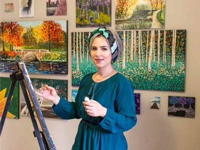 Expression by Nada: Interview with Self-Taught Syrian Canadian Artist Nada Khatib