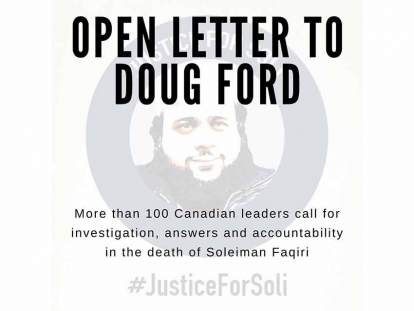 More Than 100 Canadian Leaders Sign Justice for Soli Open Letter to Premier Doug Ford