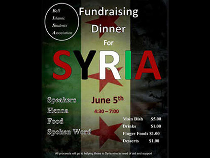 Bell students raise funds for Syria