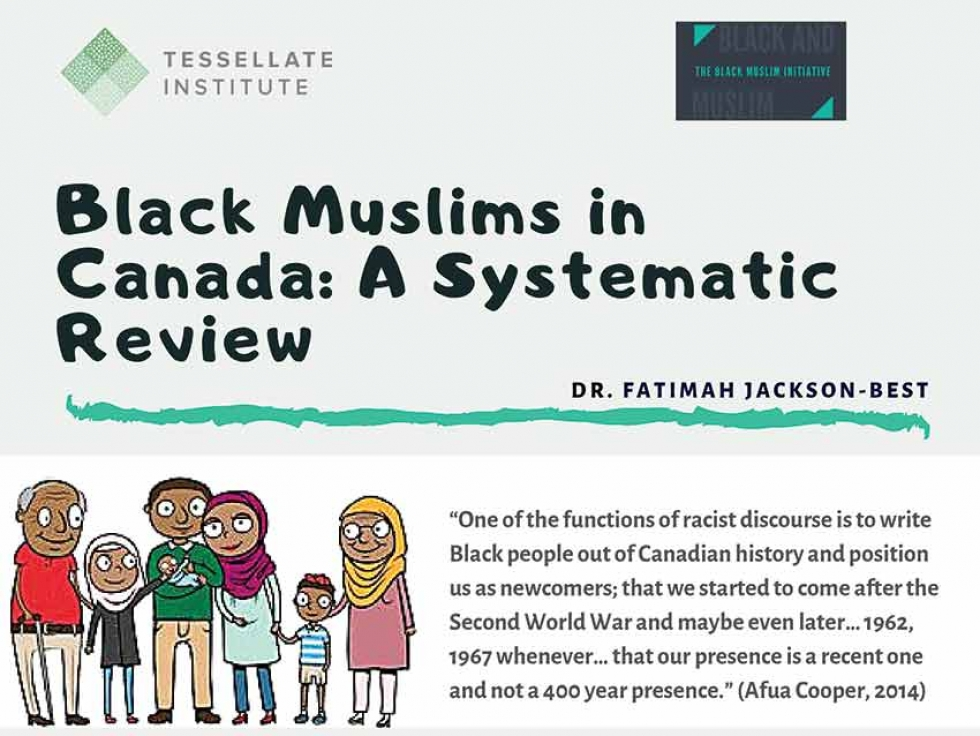 """Image from the Infographic that accompanies """"Black Muslims in Canada: A Systematic Review of Published and Unpublished Literature""""."""