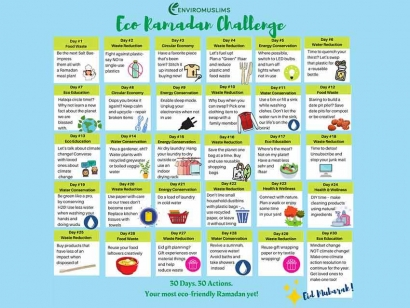 EnviroMuslims Want to Make This Year's Ramadan More Eco-Friendly with Their Eco-Ramadan Challenge