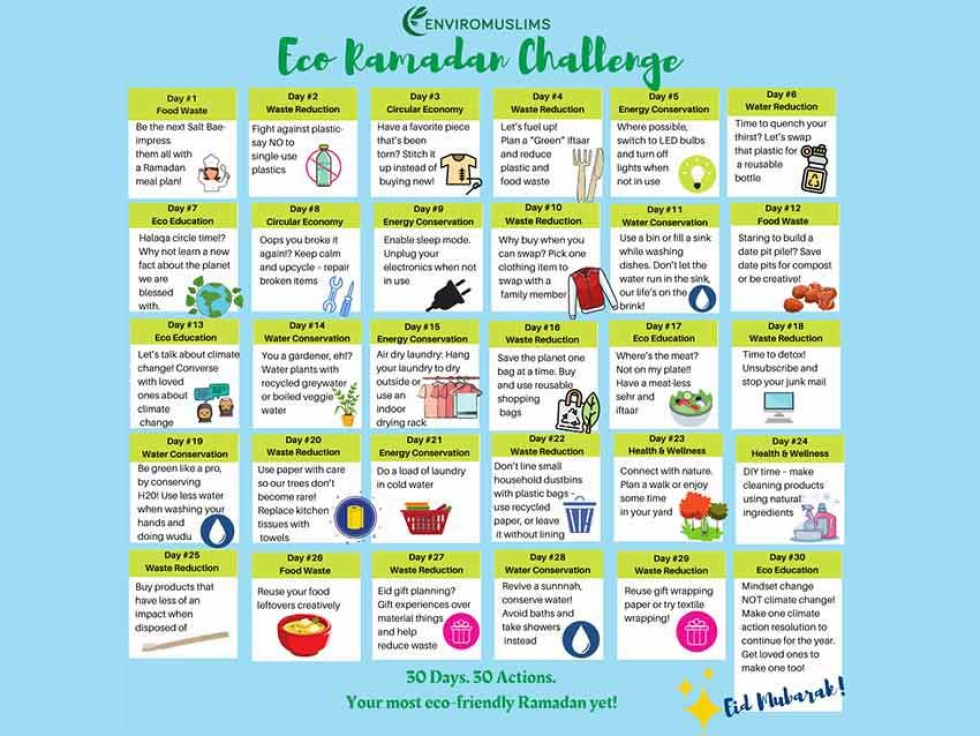 The Eco-Ramadan Challenge Calendar