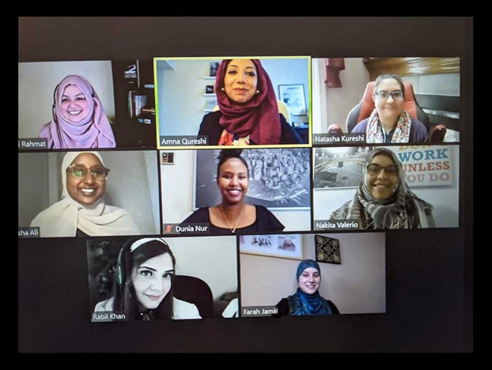 Some of the attendees at Sisters' Dialogue's first online panel discussion