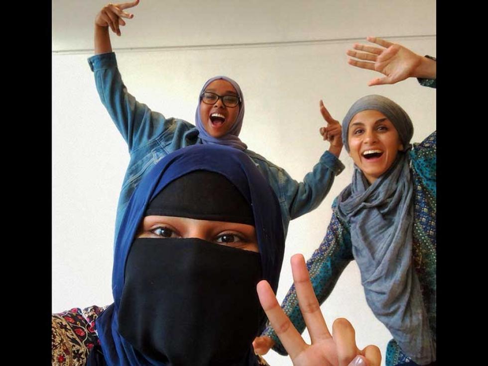 Members of the Rivers of Hope Team: Aima Warraich, Sidrah Ahmad, and Naeema Hassan.