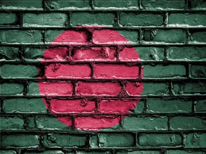 The colours of the flag of Bangladesh