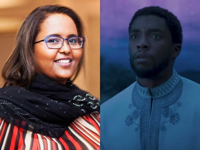 Hodan Ahmed Mohamed is a Somali Canadian researcher based in Toronto, Ontario. And that's King T-Challa (Black Panther) rocking a thobe, chosen by the film's costume designer who has been putting actors in thobes since dong the costume design for Spike Lee's Malcolm X.