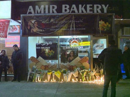 Amir Pasavand, owner of Amir Bakery, lost both his wife and daughter in the Ukrainian airplane crash in Iran this week.