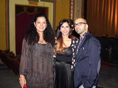 Filmmaker Hoda Elatawi, Muneeza Sheikh and her husband Mustafa Khaliq at the Ottawa Premiere of Muneeza in the Middle in December 2014.