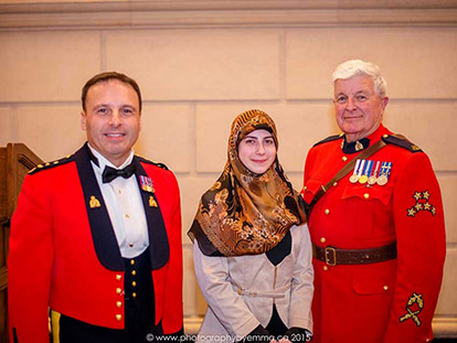Milad un Nabi on Parliament Hill