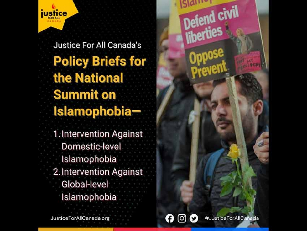 Justice For All Canada Anxiously Awaits Action Plan on Domestic and Global Islamophobia