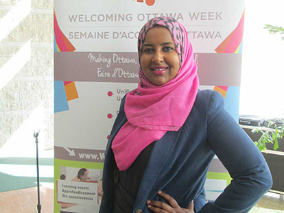 Naima Shegow works with the Somali Centre for Family Services and manages social media for WOW