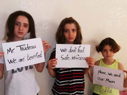 Desperate Palestinian Refugee Mom to Plead with Trudeau TODAY: Let Me Bring My Children From Gaza to Ottawa!