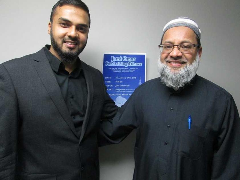 Musleh Khan and Imam Anver Malam at the Jami Omar Fundraising Dinner.
