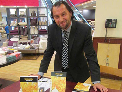 Imam Zijad Delic, the author of Canadian Islam, promoting his book at Chapters Rideau.
