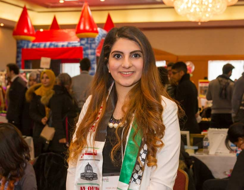 Heba Jallad at the Arabian Canadian Bazaar